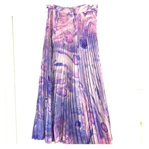 Anthropologie Pleated Maxi Skirt